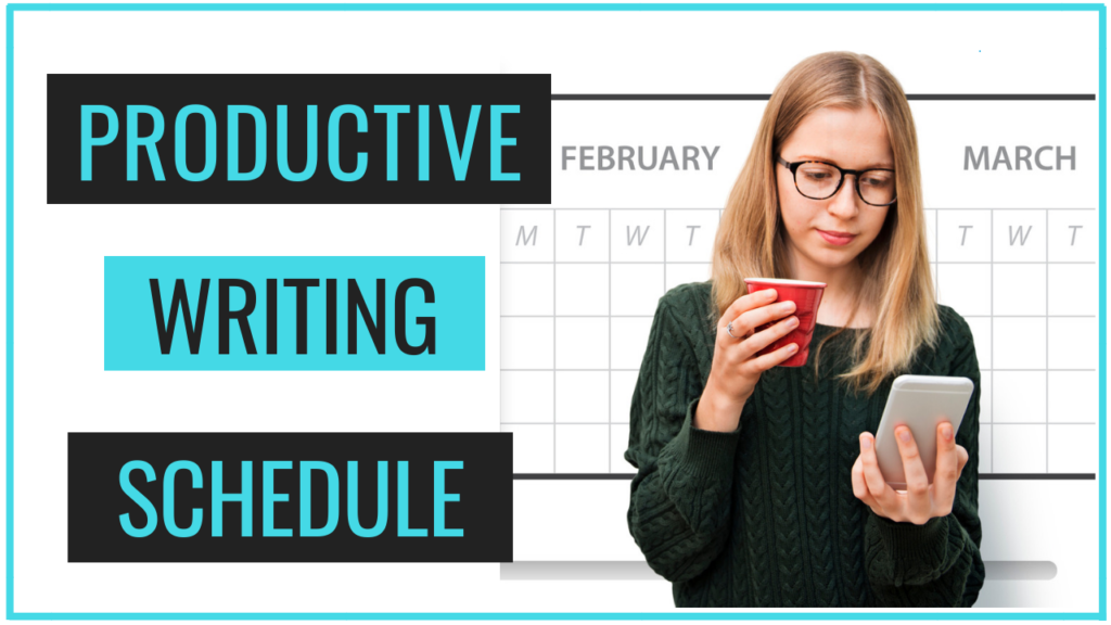how to create a writing schedule