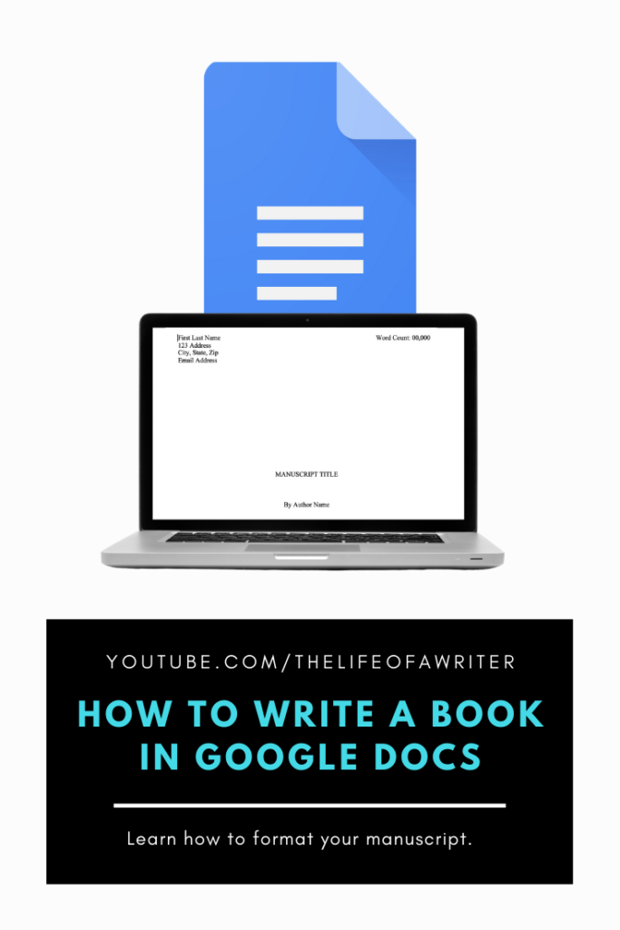 how to write a book in google docs